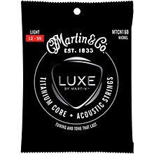 Martin Titanium Core Acoustic Guitar Strings Nickel Wrap Light Tension