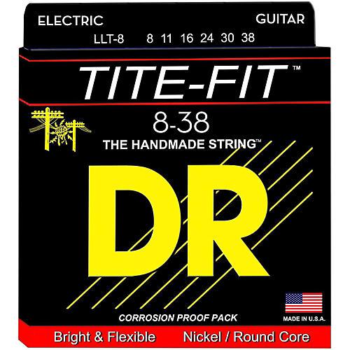 DR Strings Tite-Fit LLT-8 Lite-Lite Nickel Plated Electric Guitar Strings-thumbnail