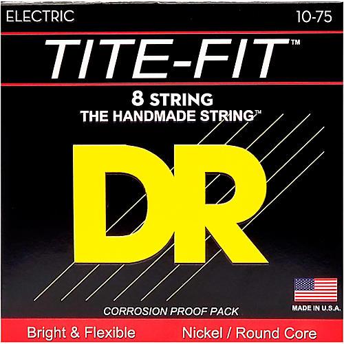 DR Strings Tite-Fit Nickel Plated Medium 8-String Electric Guitar Strings (10-75) Medium