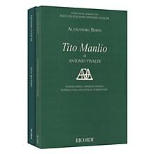 Ricordi Tito Manlio RV 738 Score with Critical Commentary Hardcover by Antonio Vivaldi Edited by Alessandro Borin