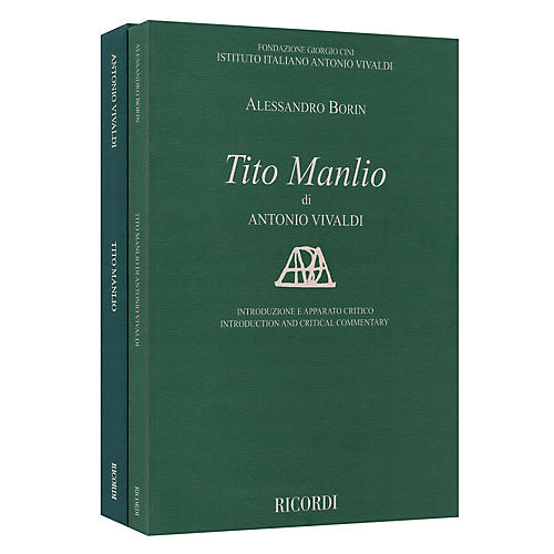 Ricordi Tito Manlio RV 738 Score with Critical Commentary Hardcover by Antonio Vivaldi Edited by Alessandro Borin-thumbnail