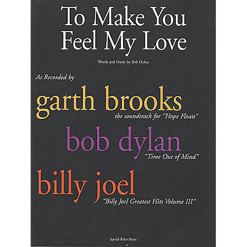 Music Sales To Make You Feel My Love Music Sales America Series Performed by Bob Dylan-thumbnail