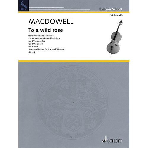 Schott To a Wild Rose Schott Series Softcover Composed by Edward MacDowell-thumbnail