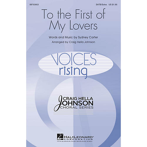 Hal Leonard To the First of My Lovers SATB Chorus and Solo arranged by Craig Hella Johnson-thumbnail