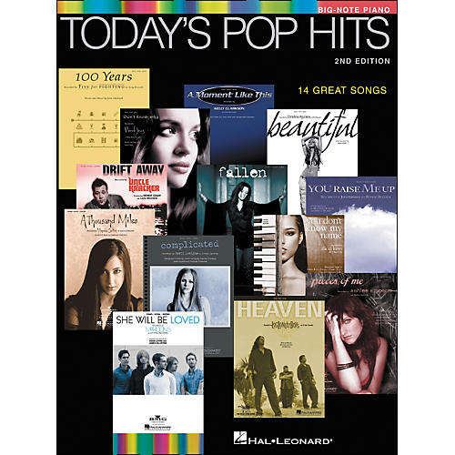 Hal Leonard Today's Pop Hits Second Edition for Big Note Piano