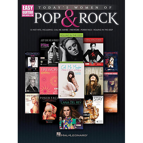 Hal Leonard Today's Women Of Pop & Rock (Easy Guitar With Tab)-thumbnail