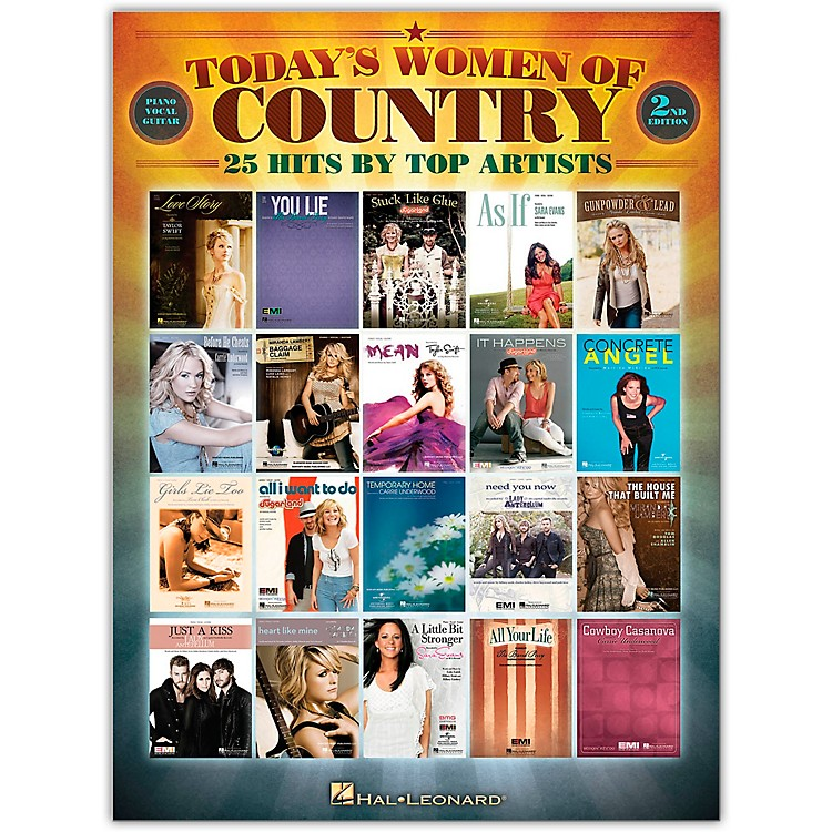 Hal Leonard Today's Women of Country Piano, Vocal, Guitar Songbook