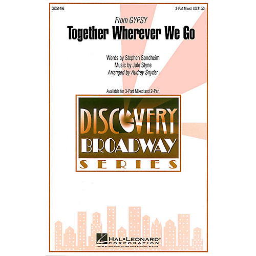 Hal Leonard Together Wherever We Go (from Gypsy) ShowTrax CD Arranged by Audrey Snyder-thumbnail