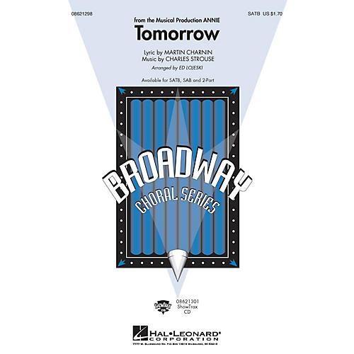 Hal Leonard Tomorrow (from Annie) SATB arranged by Ed Lojeski-thumbnail