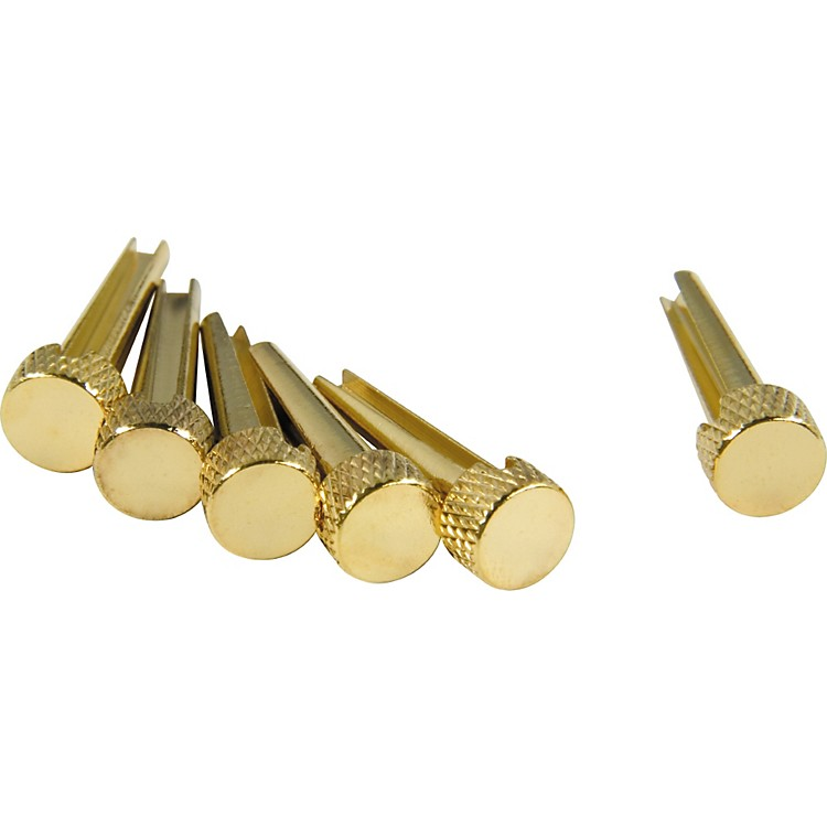 D'Andrea Tone Pins Brass Bridge Pin Set White Dot
