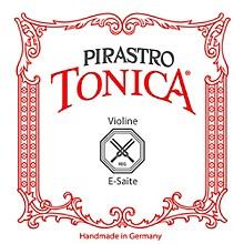 Pirastro Tonica Series Violin E String 1/4-1/8 Size Silvery Steel Medium Ball End