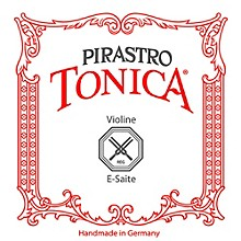 Pirastro Tonica Series Violin E String 1/4-1/8 Size Steel / Aluminum Medium Ball End