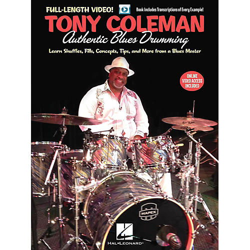Hal Leonard Tony Coleman - Authentic Blues Drumming - Book/Online Video-thumbnail