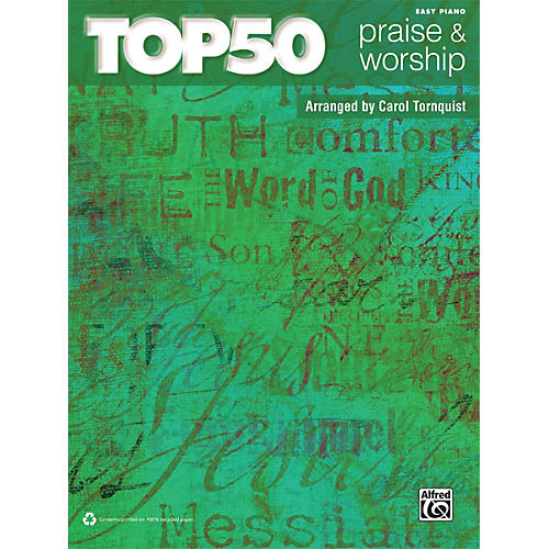 Alfred Top 50 Praise & Worship Easy Piano Book