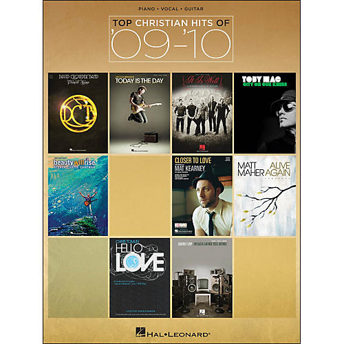 Hal Leonard Top Christian Hits Of '09-'10 arranged for piano, vocal, and guitar (P/V/G)