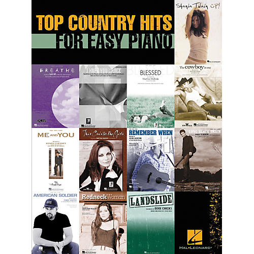 Hal Leonard Top Country Hits For Easy Piano