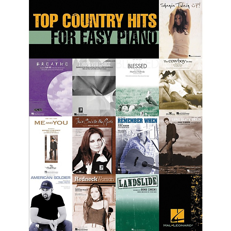 Hal LeonardTop Country Hits For Easy Piano