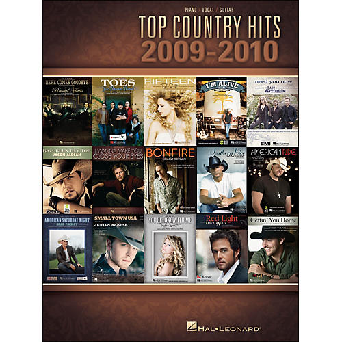 Hal Leonard Top Country Hits Of 2009-2010 arranged for piano, vocal, and guitar (P/V/G)