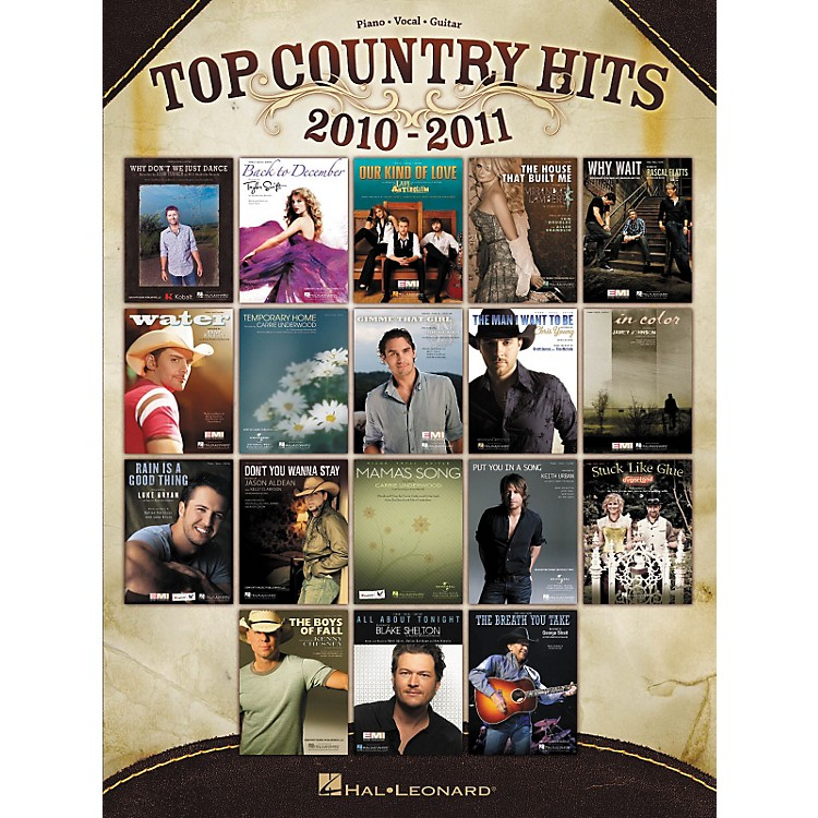 Hal Leonard Top Country Hits Of 2010-2011 PVG Songbook