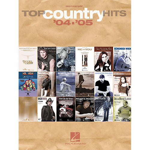 Hal Leonard Top Country Hits of '04-05 Piano, Vocal, Guitar Songbook