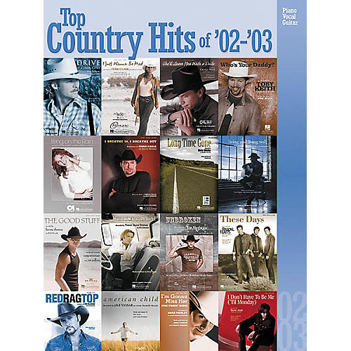Hal Leonard Top Country Hits of 2002-2003 Songbook