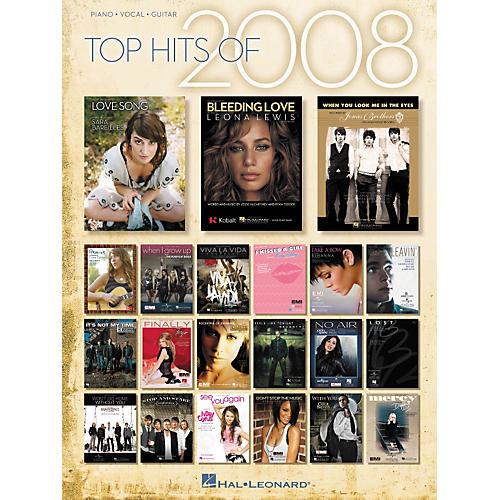 Hal Leonard Top Hits Of 2008 Piano-Vocal-Guitar Songbook