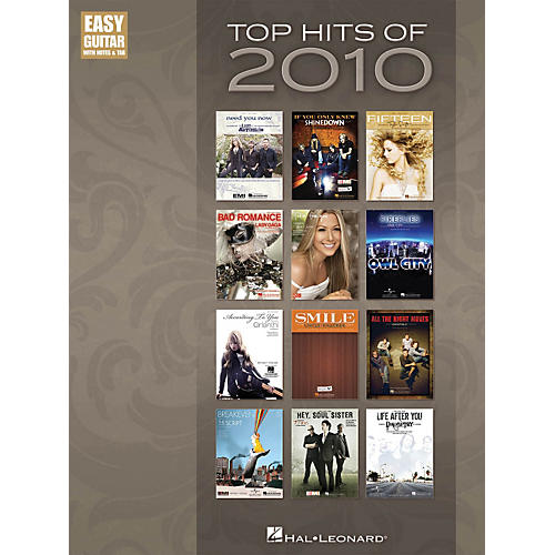 Hal Leonard Top Hits Of 2010 - Easy Guitar Songbook with Tab