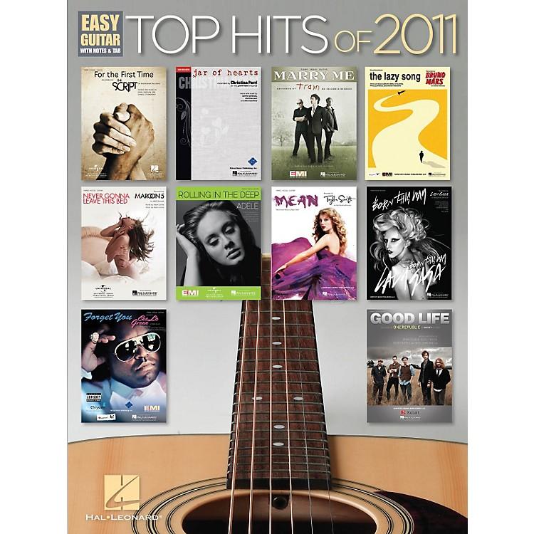 Hal LeonardTop Hits of 2011 Easy Guitar Songbook