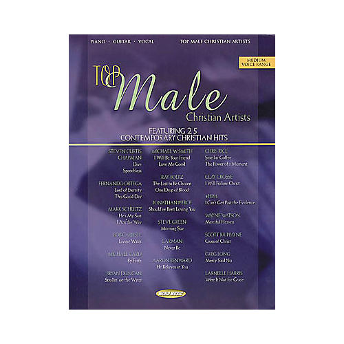 Word Music Top Male Christian Artists Piano, Vocal, Guitar Songbook