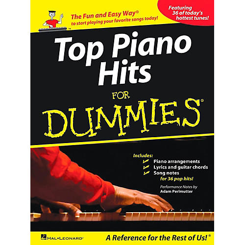 Hal Leonard Top Piano Hits For Dummies - The Fun and Easy Way to Start Playing Your Favorite Songs Today!-thumbnail