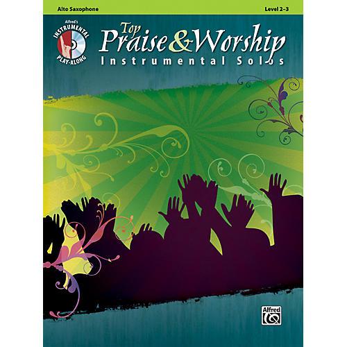 Alfred Top Praise & Worship Instrumental Solos - Alto Sax, Level 2-3 (Book/CD)