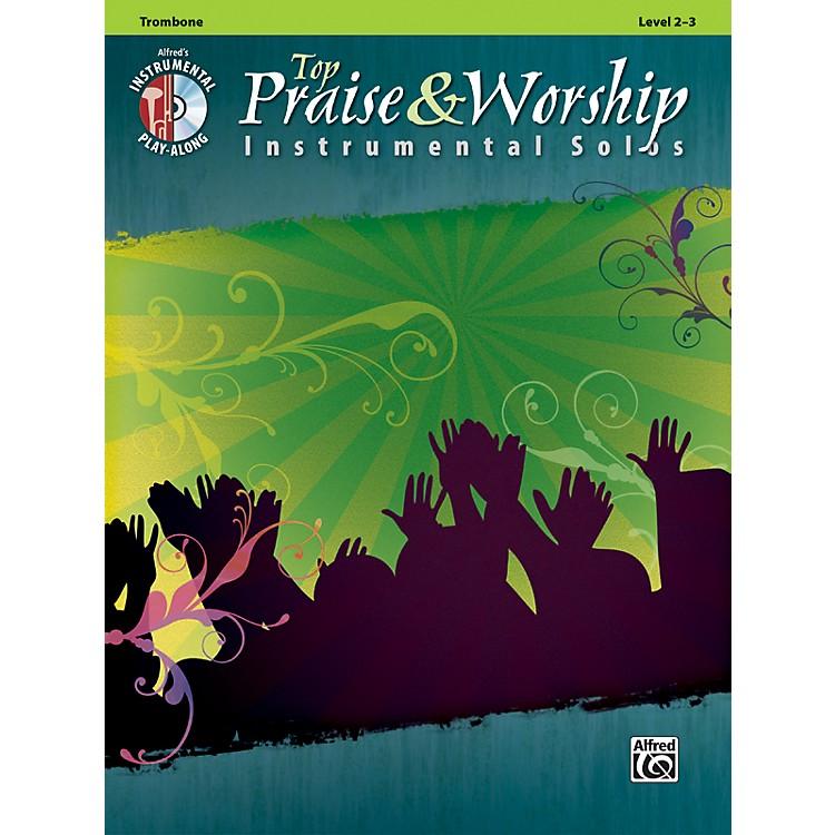 AlfredTop Praise & Worship Instrumental Solos - Trombone, Level 2-3 (Book/CD)