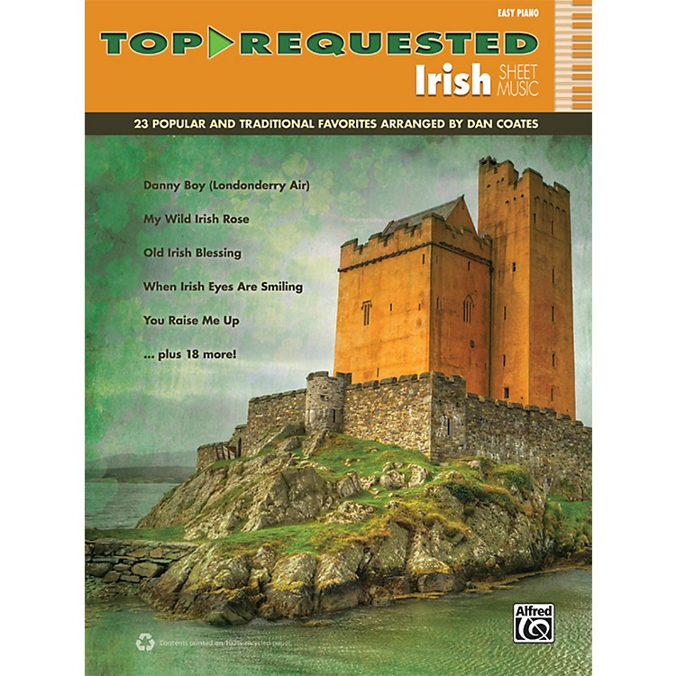 AlfredTop-Requested Irish Sheet Music Easy Piano Book