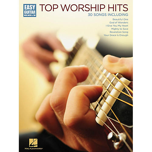 Hal Leonard Top Worship Hits (Easy Guitar with Notes & Tab) Easy Guitar Series Softcover Performed by Various-thumbnail