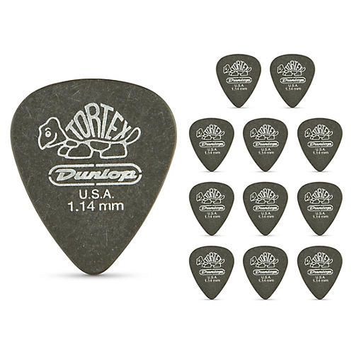 Dunlop Tortex Pitch Black Standard Guitar Picks 1 Dozen 1.14 mm