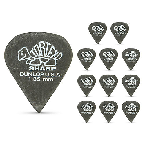 Dunlop Tortex Sharp Guitar Picks 1 Dozen 1.35 mm