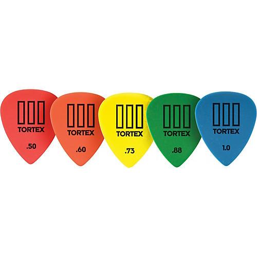 Dunlop Tortex T3 Sharp Tip Guitar Picks 72-Pack .60 mm
