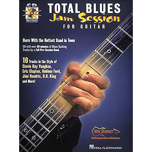 Hal Leonard Total Blues Jam Session For Guitar (Book and CD Package)