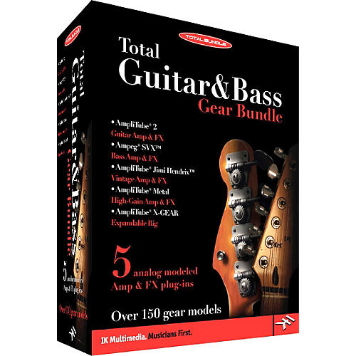 IK Multimedia Total Guitar & Bass Gear Bundle Full
