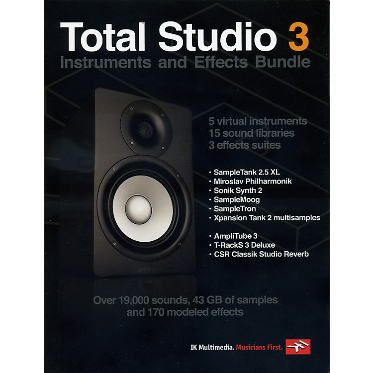IK Multimedia Total Studio 3 Software Instruments and Effects Bundle