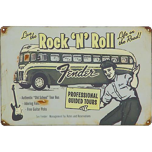 Fender Tour Bus Antique Sign