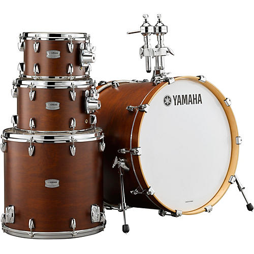 yamaha tour custom maple 4 piece shell pack with 22 in bass drum chocolate satin musician 39 s. Black Bedroom Furniture Sets. Home Design Ideas