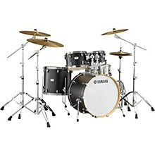 Yamaha Tour Custom Maple 4-Piece Shell Pack with 22 in. Bass Drum Licorice Satin