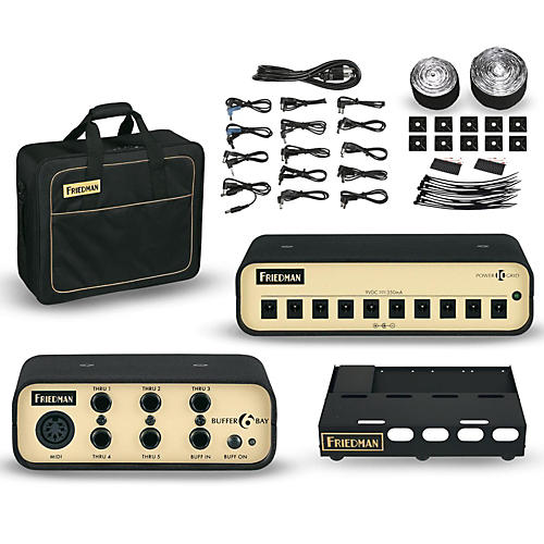Friedman Tour Pro 1520 Platinum Pack 15 x 20 in. Pedalboard with Buffer Bay and Power Grid 10-thumbnail