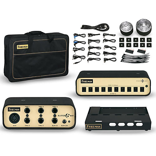 Friedman Tour Pro 1525 Platinum Pack 15 x 25 in. Pedalboard with Buffer Bay and Power Grid 10
