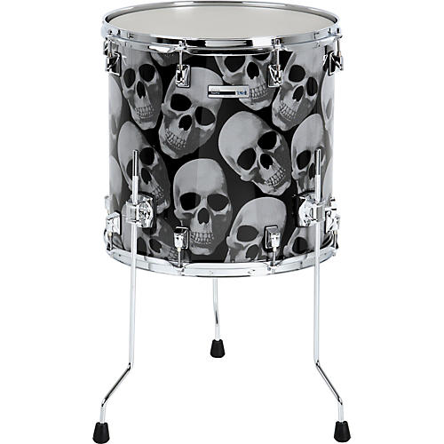 Taye Drums TourPro Graphix Skulls Floor Tom-thumbnail