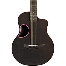 Touring Carbon Fiber Acoustic-Electric Guitar Pink Binding