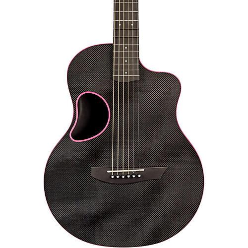 Kevin Michael Carbon Fiber Guitars Touring Carbon Fiber Acoustic-Electric Guitar Pink Binding