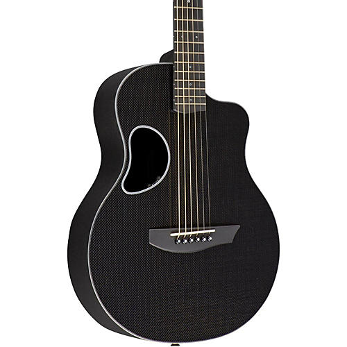 Kevin Michael Carbon Fiber Guitars Touring Carbon Fiber Acoustic-Electric Guitar Silver Binding
