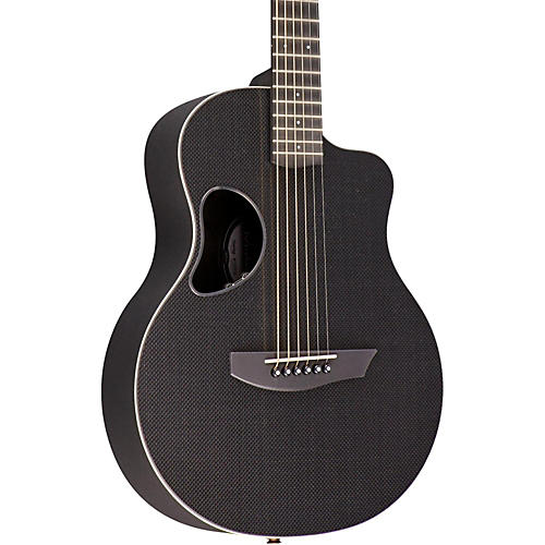 Kevin Michael Carbon Fiber Guitars Touring Satin Top Acoustic-Electric Guitar White Binding